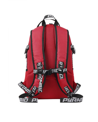 Black Pyramid Backpack (RED)