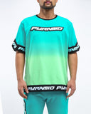 Black Pyramid Dip Dye Pastel Shooting Jersey (GREEN)