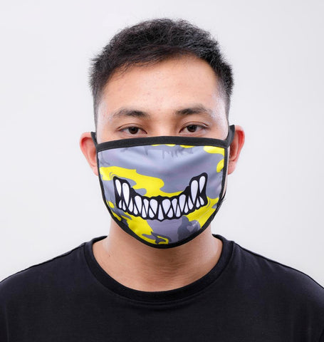 Black Pyramid Monster Bite facemask (YELLOW CAMO)