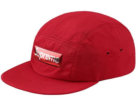 Supreme Liquid Metal Logo Camp Cap (RED)