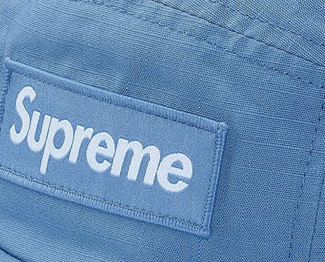 Supreme Metal Ring Camp Cap (LIGHT BLUE)