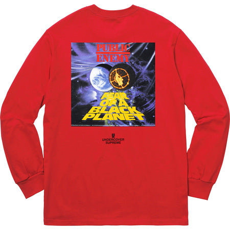 Supreme/Undercover/Public Enemy Counterattack L/S Tee (RED)