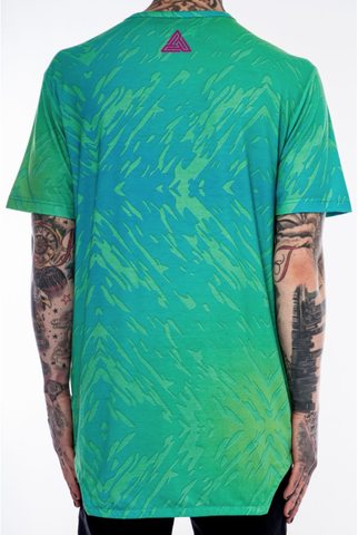 "Black Pyramid ""Wave Boys"" Gradient Tee (Green)"