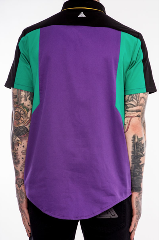 Black Pyramid Color Block Kangaroo Woven (Lavender)