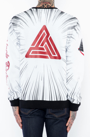 "Black Pyramid ""Crying Astro"" Crewneck Sweatshirt"
