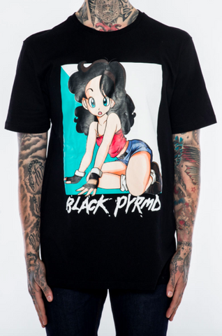 Black Pyramid Anime Girl Tee (BLACK)