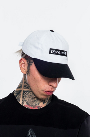 Black Pyramid Logo Dad Cap (White)
