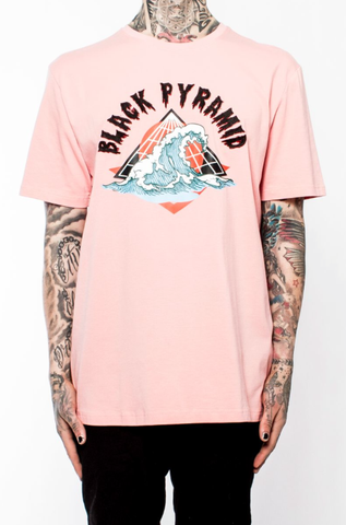 Black Pyramid Logo Wave Tee (SALMON)