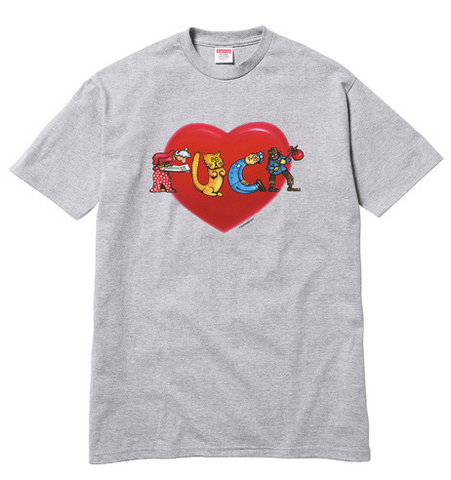 "Supreme ""F**K Love"" Mens Tee (GREY)"