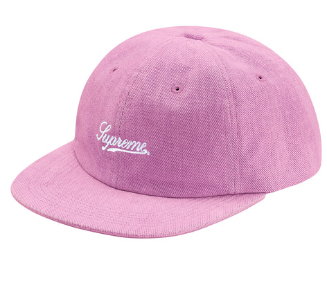 "Supreme ""Brushed Twill Script"" 6 Panel Cap (LIGHT PURPLE)"