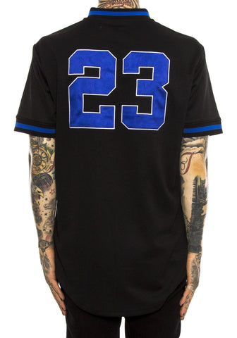 Black Pyramid BP 23 Baseball Jersey (BLACK/BLUE)