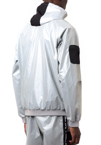Black Pyramid Space Zip Up Hoodie