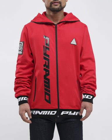 Black Pyramid Goggles ZIp Up Jacket (RED)