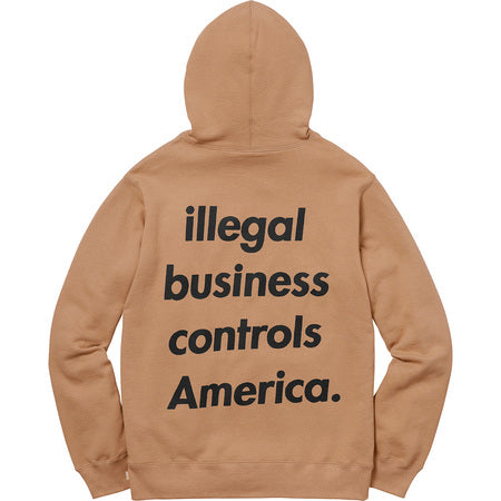 Supreme Illegal Business Hoodie (LIGHT BROWN)