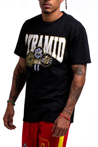Black Pyramid Gold Patch SS Tee (BLACK)