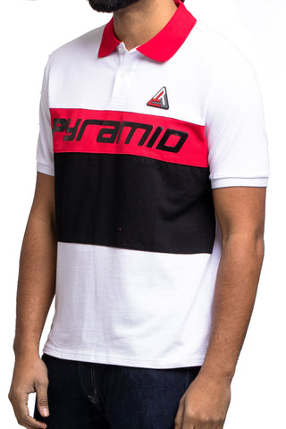 Black Pyramid Color Block SS Shirt (RED)