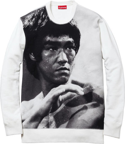 "Supreme ""Bruce Lee"" Crewneck (WHITE)"