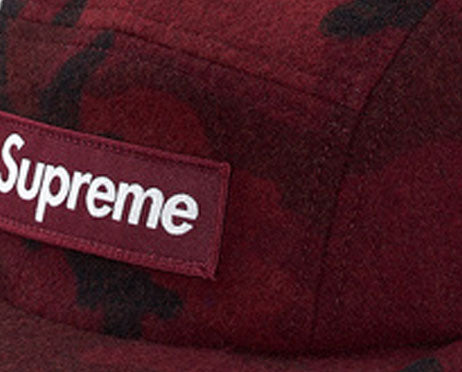 Supreme Camo Wool Camp Cap (BURGUNDY)