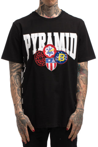 Black Pyramid Checker Patch Tee (BLACK)