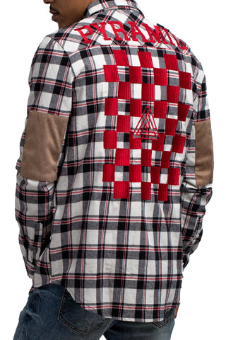 Black Pyramid Checker Plaid LS Shirt (BEIGE)
