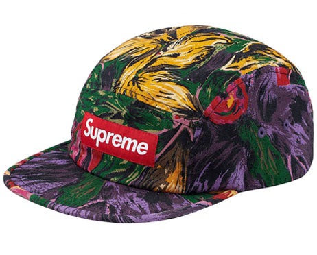 Supreme Painted Floral Camp Cap (PURPLE)