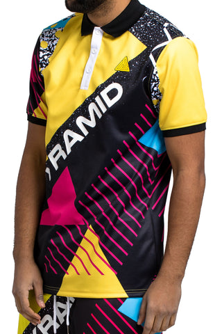 Black Pyramid BP Geometric Polo (YELLOW)