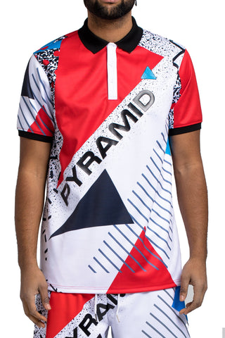 Black Pyramid BP Geometric Polo (RED)