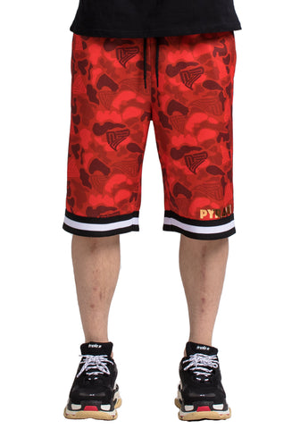 Black Pyramid Golden Pyramid Camo Shorts (RED)