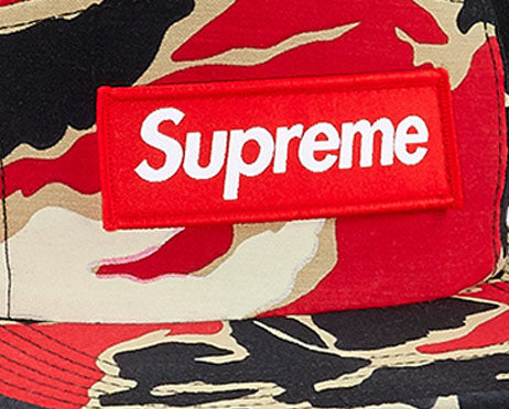 Supreme Tiger Camo Camp Cap (RED)