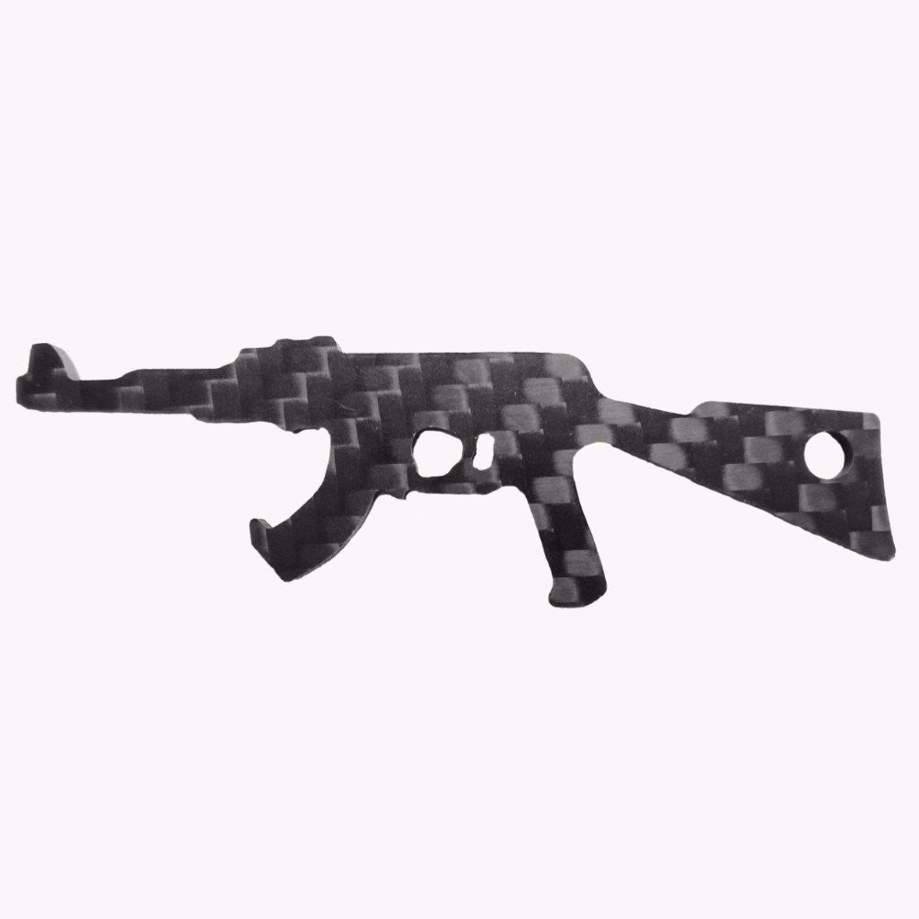 AK-47 real carbon fiber bottle opener