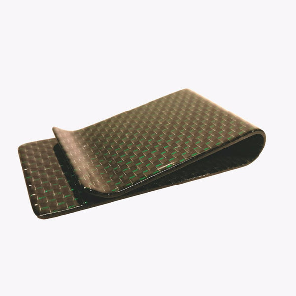 Carbon Fiber Money Clip - Green