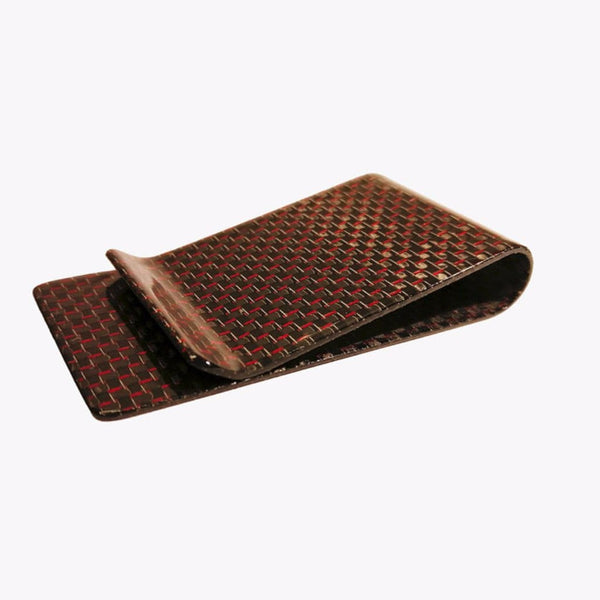 Carbon Fiber Money Clip - Red