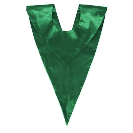 green choir v stole, choir stole, green stole