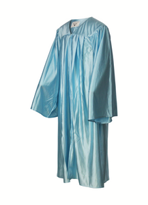 Shiny Light Blue Choir Gown