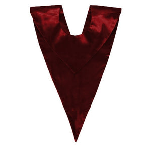 Maroon Choir V-Stole