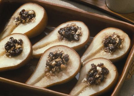 Baked Bosc Pears on Half Shell