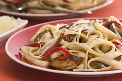 Fettuccini with Spicy Chicken Sausage and Pears