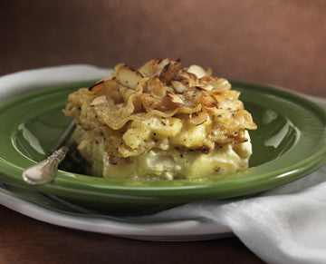 Bosc Pear Lasagna with Almonds and Brie