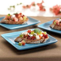 Crostini with Feta and Pear-Strawberry Salsa