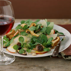 Mache, Pear, Parmesan and Wild Mushroom Salad