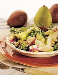 Salad with Pears, Blue Cheese, Currants, & Toasted Hazelnuts