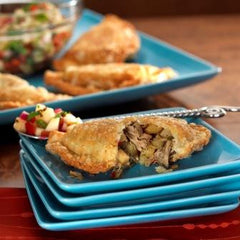 Pulled Pork and Pear Empanadas with Cilantro Mojo