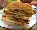 Breakfast Pear & Bacon Grilled Cheese Sandwich