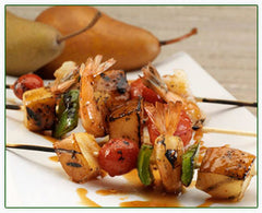 Asian Shrimp Skewers with Pears