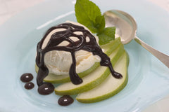 Hot Fudge Pear Sundae
