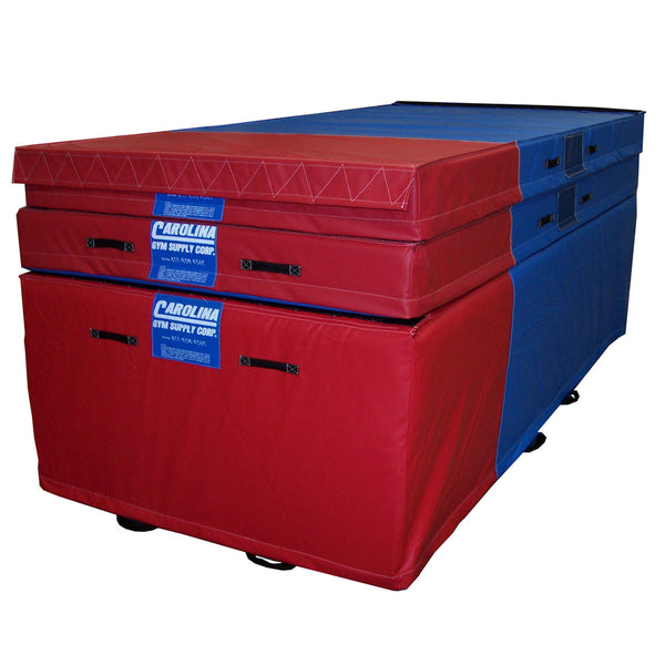 Carolina Gym Supply Level 3 Vault Matting System Red Blue