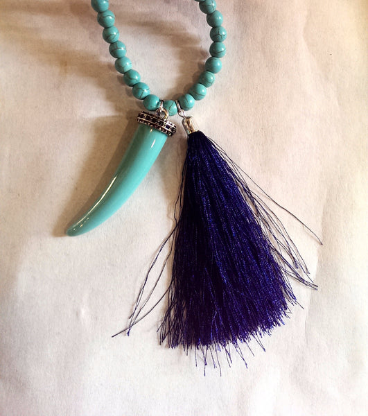 Tassel and Tusk Necklace - Klara Haloho - 3