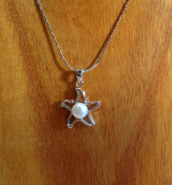 Starfish Freshwater Pearl and Sterling Silver Necklace - Klara Haloho - 2