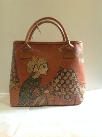 Leather Batik Purse - Klara Haloho - 1