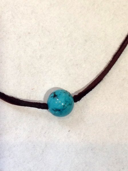 """One Love"" Turquoise and Pearl Unisex Necklace - Klara Haloho - 2"